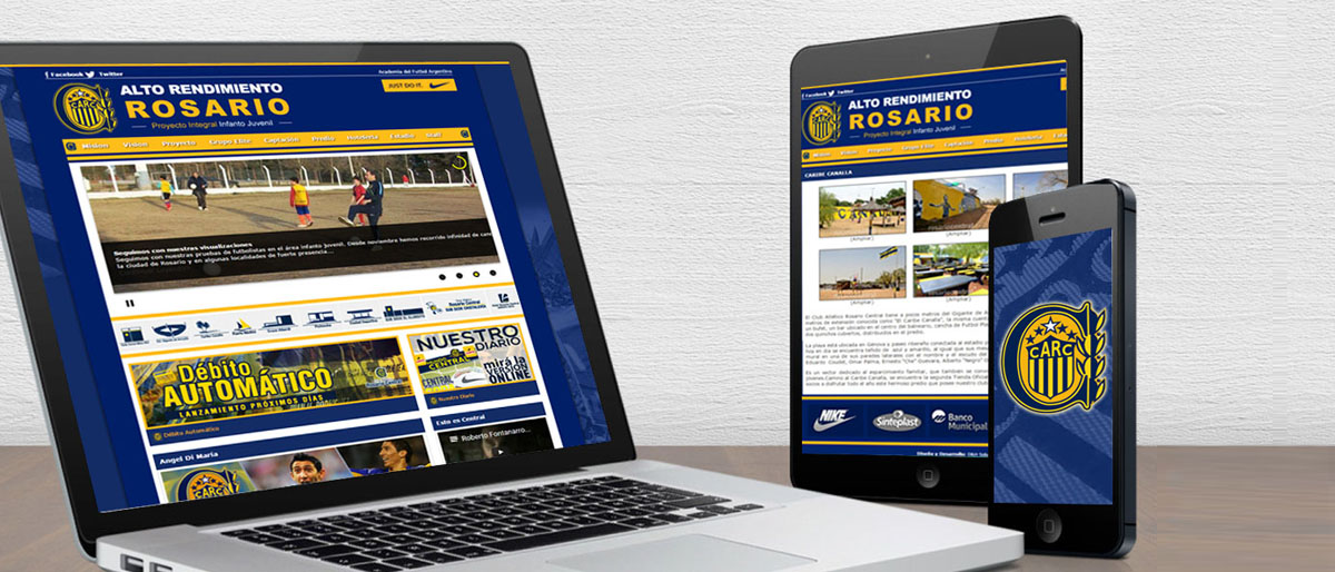 Página Web para el Club Rosario Central